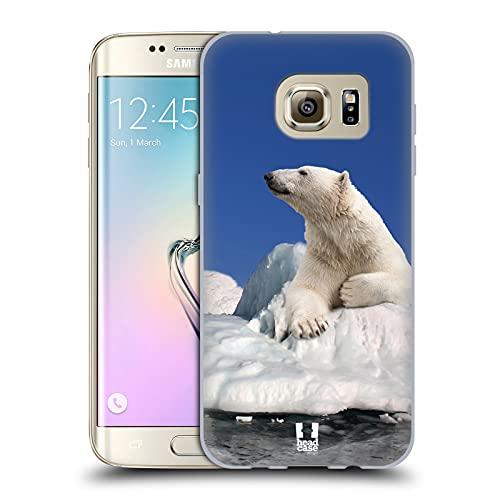 Head Case Designs Orso Polare sul Ghiaccio Animali Selvatici Cover in Morbido Gel Compatibile con Samsung Galaxy S7 Edge