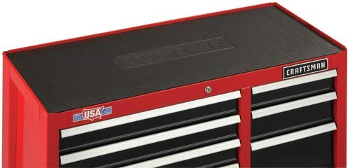 CRAFTSMAN Tool Cabinet with Drawer Liner Roll & Socket Organizer, 26-Inch, 5 Drawer, Red...