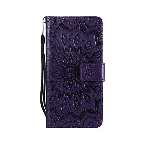 Henraly - Funda con tapa para Samsung Galaxy A5 J1 2016 A3 2017 de piel sintética + funda de cartera para Samsung Galaxy J3 J7 J5 2017 - Purple-For J5 2017 J530 EU