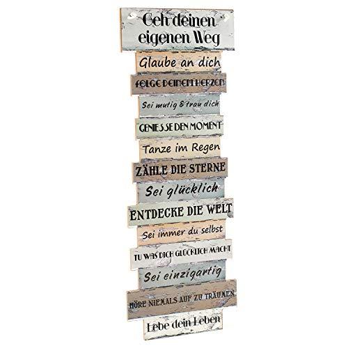 Bild Lebenseinstellung, Schild, Plankenschild Holzdeko, Tagesregeln