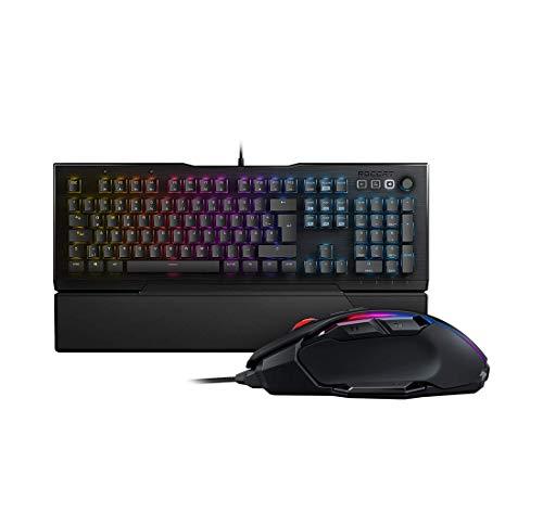 Roccat Vulcan 121 - Mechanische Gaming Tastatur, AIMO LED Einzeltastenbeleuchtung, Titan Switches, Tactile Switch, Schwarz + Kone AIMO Gaming Maus - AIMO LED Beleuchtung, Schwarz