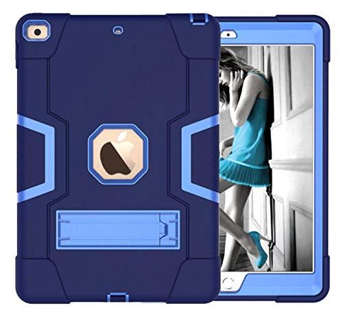 HNKHKJ Schwere Shochproof Silikon Rüstung Abdeckung für iPad 10 2 7. Gen A2198 A2200 A2232 10 2Tablet Funda Capa Fall für Kinder + Film + Pen-Navy_Blue