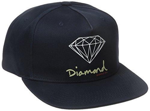 Diamond Supply Co. Men's Og Script Brilliant Snapback, Navy, One-Size