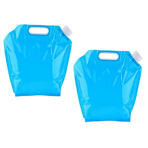 XLKJ 2 Pcs Envase de Agua Plegable, Bidón de Agua Plegable Portátil, Contenedor de Agua Plegable No tóxico para Transportar, Deportes, Campamento, Senderismo, Pícnic