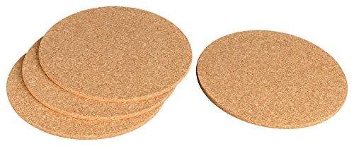 Salvamanteles de corcho, 30 cm, redondas Posavasos para ollas, sartenes, vasos, cuencos, Jarrones, Decoración de escritorio (también para manualidades - Mini tablón - Resistente al calor