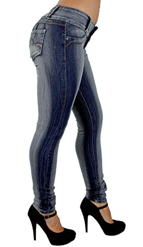 Colombian Design, Butt Lift, Levanta Cola, Skinny Jeans in Washed Dark Blue Size 5