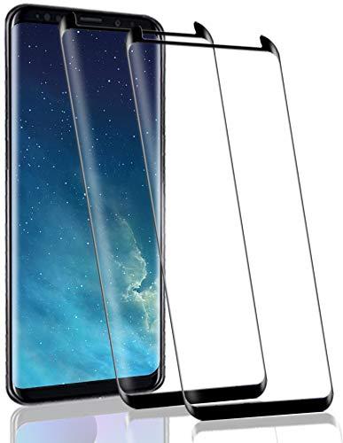 RSSYTZ 【2 Pièces Protection écran pour Samsung Galaxy S8 Verre trempé, 3D Full Coverage Premium Film, 9H Dureté sans Bulles Anti-Rayures Ultra Clair Protection Ecran pour Samsung Galaxy S8