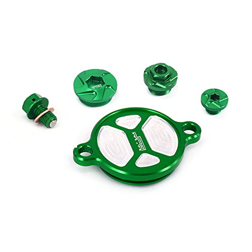 JFGRACING 1 Set CNC Olie Filter Cap + Olie Afvoer bout + Motorolie filter Timing Bouten Voor Kawasaki KX450F 2016
