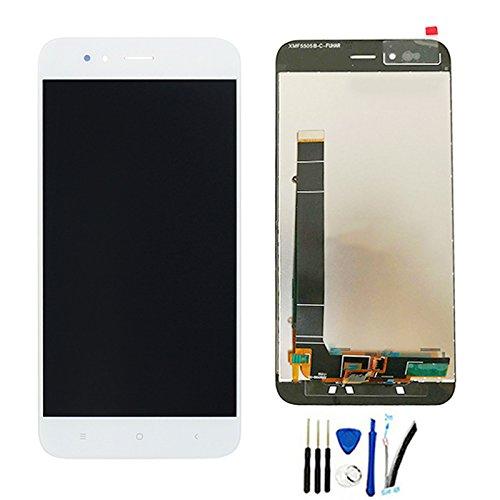 SOMEFUN Pantalla LCD Repuestos Compatible con Xiaomi Mi A1 / MiA1 /Mi 5X 5.5 LCD Pantalla Táctil Digitalizador Asamblea de Vidrio (Blanco sin Marco)