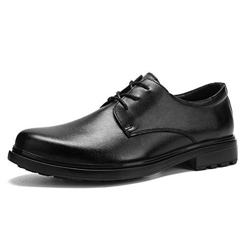 Best-choise Oxfords Vestido Zapatos para Hombres Llano Redondo Toe Stitching 3-Eye Lace...