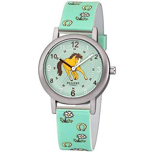 Regent Unisex Kinder Analog Quarz Uhr mit Plastik Armband 12400268