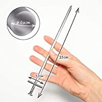 com-four® 30x Tent Pegs made of steel - long and robust pegs for camping and outdoor - ideal for normal and hard ground