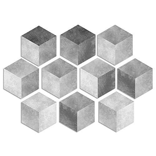 Adhesivo de vinilo para pared de piso para decoración del hogar, diseño hexagonal, para sala de estar, cocina, baño, autoadhesivo, 20 x 23 x 10 unidades