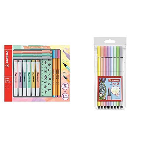 Stabilo Pastel Collection Set , ;Confezione Mista 13 ;Pezzi: 6 ;Swing Cool Pastel, 3 & Pennarello Premium, Stabilo Pen 68, Astuccio Da 8, Colori Pastello