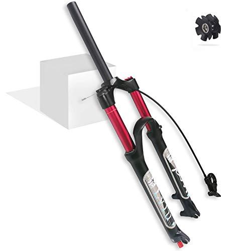 LvTu Aria Mountain Bike Forcella Anteriore MTB 26 27.5 29 Pollici 140mm Viaggio, 1-1/8' Leggero Freno a Disco Forcella Sospensione Bicicletta per 1.5-2.45' Pneumatici