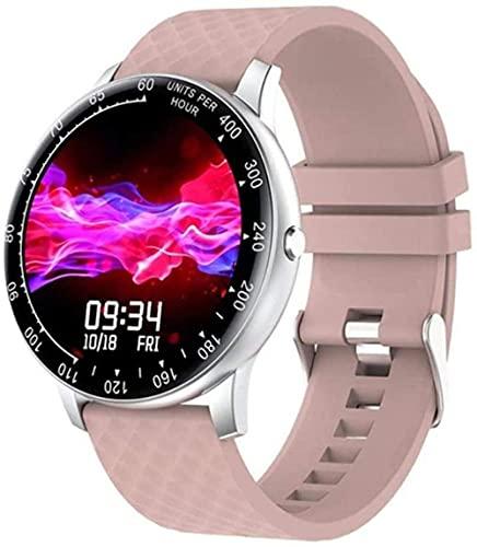 Reloj Inteligente Hombres Mujeres Pulsera Fitness Actividad Tracker Smartwatch Banda Presión Arterial Frecuencia Cardíaca Reloj Deportivo Impermeable Rosa