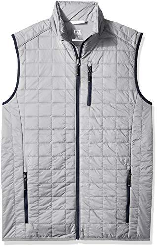 Cutter & Buck Men's Weather Resistant Primaloft Down Alternative Rainier Vest, Polished, 5X Big