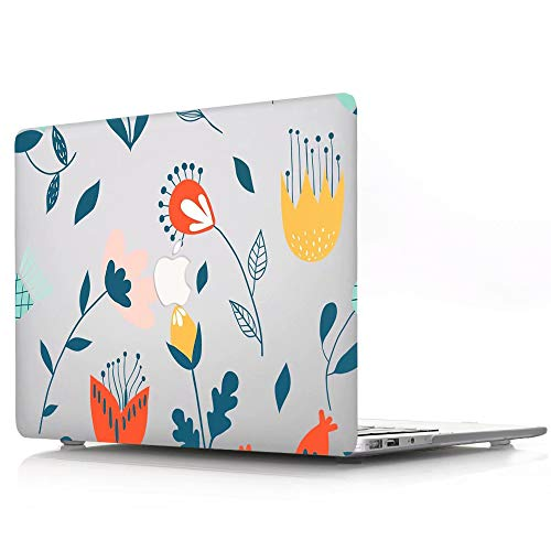 ACJYX MacBook New Pro 15 inch Case 2020 2019 2018 2017 2016 Release A1707 / A1990, Plastic Hard Shell Cover Laptop Case for MacBook New Pro 15', Flowers and Leaves