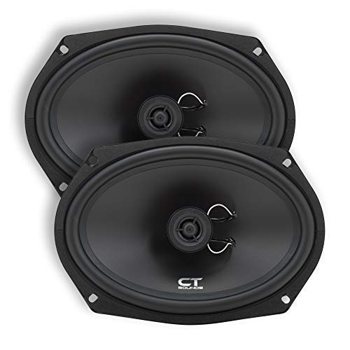 CT Sounds 6x9 Inch Coaxial Car Speakers (Pair) - 2 Way Full Range, 40W (RMS) | 80W Max Power Per Speaker, Silk Dome, Easy Mounting, 4 Ohm Impedance - Bio 6x9