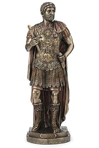 "10"" Roman Emperor Adriano Hadrian Sculpture Statue Figure"