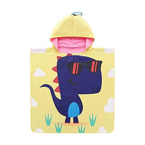 KISAD Poncho Toalla de Niño Infantil de Baño y Playa Toalla de Playa para niños Baby Pool Bathrobe Poncho Surf Seco rápido Microfibra Terry Coth Kids Bat Bath Bobe con Toallas de natación con Capucha