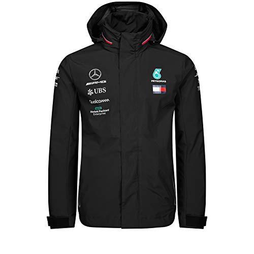 Official Formula 1 Merchandise | Männer | Offizielle Mercedes-AMG Petronas Motorsport 2019 F1™ | Team Regenjacke | Schwarz | Polyester | Größe: XS