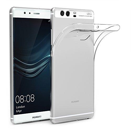 AICEK Huawei P9 Custodia Cover, P9 5.2 Pollici Silicone Caso Molle di TPU Cristallo Trasparente Sottile Anti Scivolo Case Posteriore della Copertura della Protezione Anti-Urto per P9