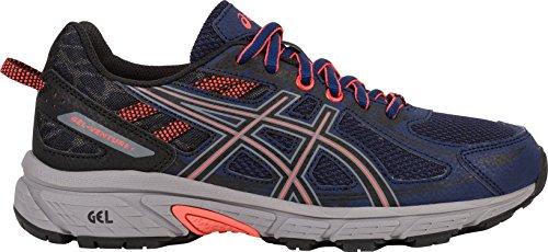 ASICS Women's Gel-Venture 6 Running-Shoes,Indigo Blue/Black/Coral,10 Medium US