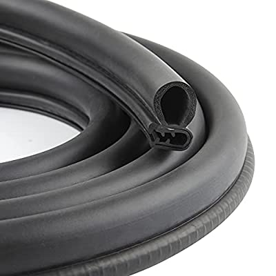 CloudBuyer Car Door Seal Strip with Top Bulb, PVC Plastic Trim with EPDM Rubber Seal, Easy to Install for Cars, Boats, RVs, Trucks, and Home Applications(20Ft)