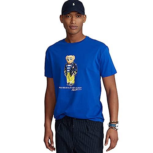 Polo Ralph Lauren Camiseta Polo Bear Custom Slim (L, Royal Blue)