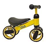Bicicleta de Equilibrio para niños de 1 a 3 años Marco de Acero al Carbono Bicicleta de Entrenamiento para Caminar sin Pedal, Regalos de cumpleaños para niños y niñas (Amarillo)