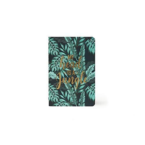 Legami A6NOT0017 - Notizbuch, liniert, klein, Grün (Jungle)