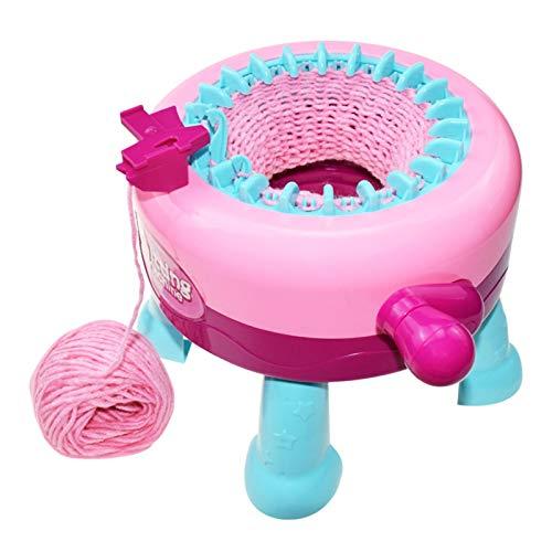 Wenhe Juego de máquinas de tejer, 2 en 1, para hacer manualidades, para regalos, bufandas, sombreros, calcetines, niños, herramienta de costura, juguetes educativos