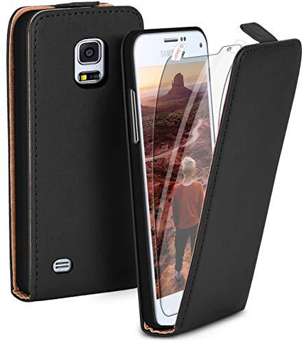 Funda con tapa y protector de pantalla para Samsung Galaxy S5 Mini