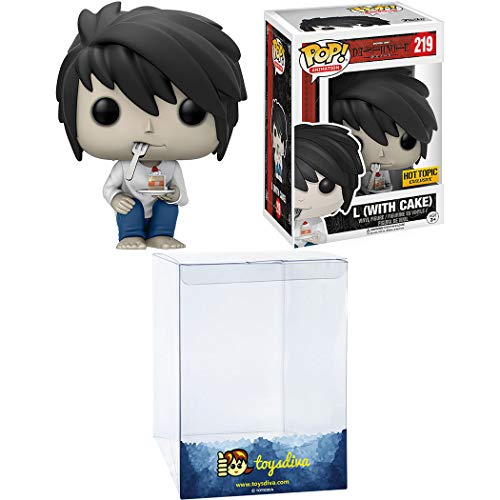 L [with Cake] (Hot Topic Exc): Funko Pop! Animation Vinyl Figure Bundle with 1 Compatible 'ToysDiva' Graphic Protector (219 - 13578 - B)