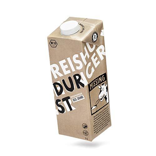 Reishunger BIO Reisdrink 12 x 1L - Veganer Milchersatz aus BIO-Reis ohne Soja, Zucker & Zusatzstoffe - Laktosefreie & Glutenfreie Milch - Auch in 1L und 6 x 1L erhältlich