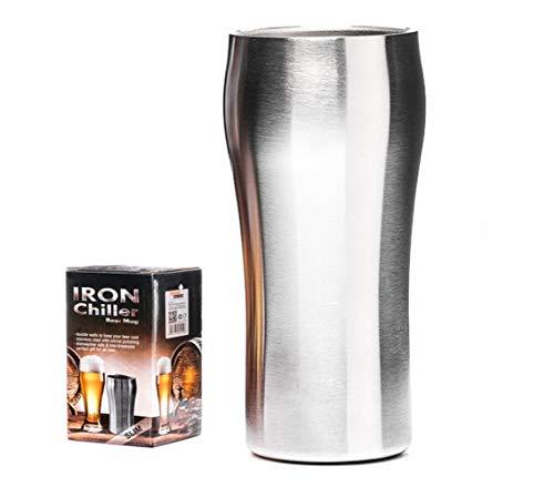 level25 - Vaso de Cerveza de Metal. Acero Inoxidable. Mantener fría la Bebida. Regalo Ideal para los Amantes de la Cerveza. Gran Capacidad.