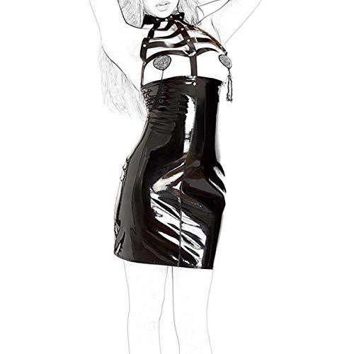 LJZozzcr Cuerpo de arnés de Mujer Punk Punk Garter Falda Cinturones Conjunto de Fiesta de Fiesta de Fiesta Rave Raver Sunglasses (Size : M)