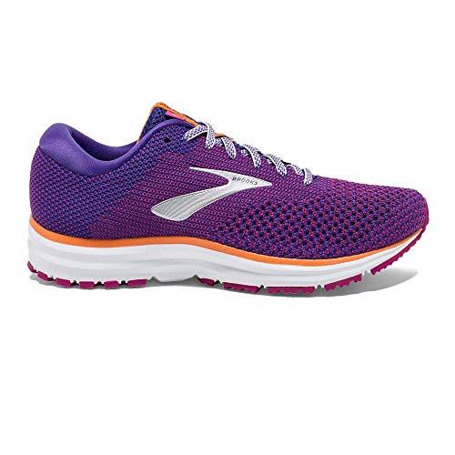 Brooks Womens Revel 2 Running Shoe - Purple/Aster/Peach - B - 12