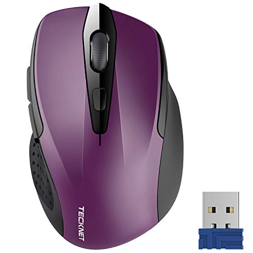 TeckNet Pro 2.4G Ergonomic Wireless Optical Mouse with USB Nano Receiver for...