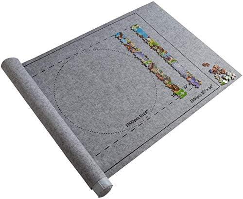 LXYFMS Puzzles Mat Jigsaw Arlington Mall Portabl Roll Felt Puzzle Easy-to-use