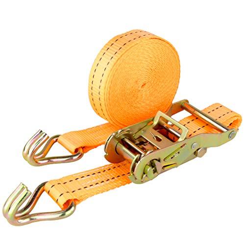 Spanngurt 5 to 8m orange Zurrgurt 5000 kg 8m Ratsche Ratschengurt Spanngurte Ratschenspanngurt DIN EN 12195-2 (1 Stück 2t / 6m)