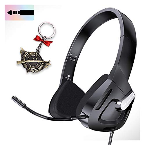 Wired Gaming Headset for Men, Women, Kids, Teens, Stereo Headphones for PC, PS4, New Xbox One, Smartphones.3.5mm Jack Kid Headset with Detachable Mic,Adjustable Headband, Foldable. (Black)