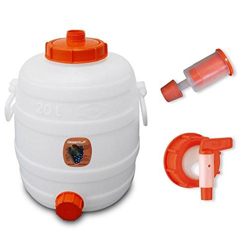 Speidel Getränkefass 20 Liter Rund mit Gärspund + Hahn (15mm Öffnung)