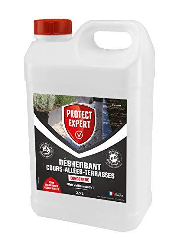bon comparatif PROTECT EXPERTPROCOUR25 Herbicide GrandesCours Alleys 2.5l Concentré Action au contact et… un avis de 2020