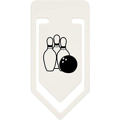 Azeeda 91mm 'Bowlingkugel und Stifte' Große Plastik Büroklammer (CC00033011)