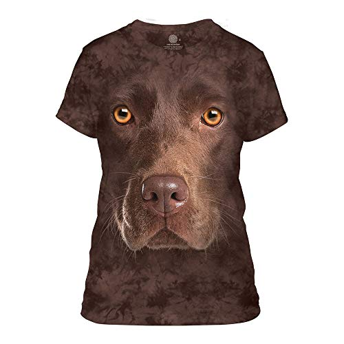 The Mountain Women's Chocolate Lab Face, Brown, Small
