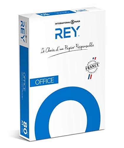 REY® OFFICE, papier reprographique, blancheur élevée, 80g, A4, PEFC™, ramette de 500 feuilles
