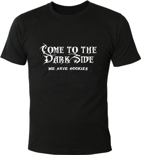 Mister Merchandise Cooles Herren T-Shirt Come to The Dark Side. We Have Cookies, Größe: XXL, Farbe: Schwarz