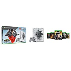 Bundle includes: XB1 x 1TB limited edition console; Xbox wl controller kait diaz le; Full game download of Gears 5 ultimate edition; Full game downloads of gears of war: ue & gears of war 2, 3, &4; Month trial of Xbox game pass;& month of Xbox live g...